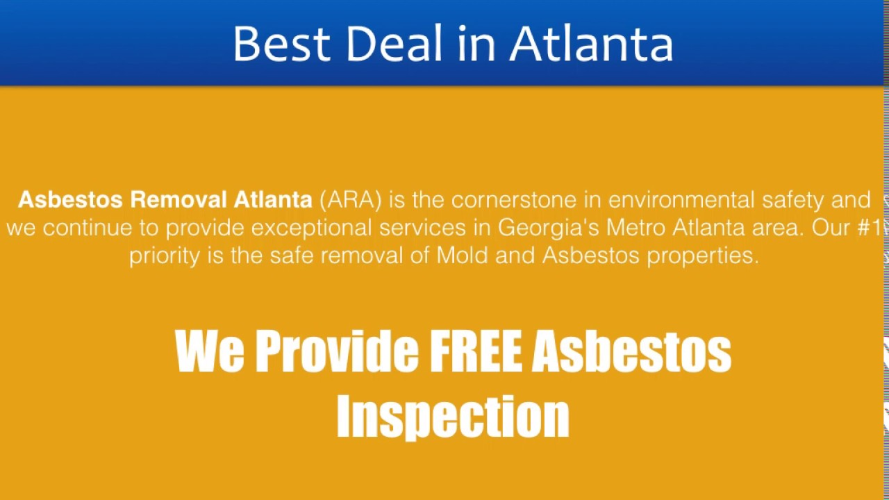 26++ Asbestos testing atlanta