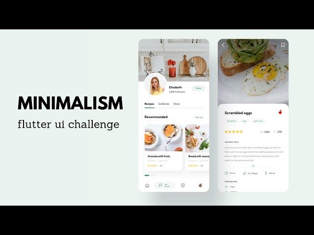 FlutterUI  - Clean Designs - Food Reviews