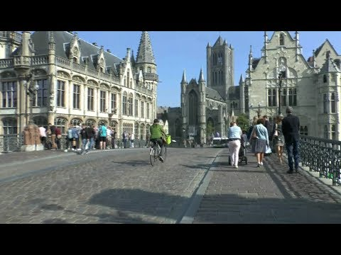 Walk around Ghent Belgium