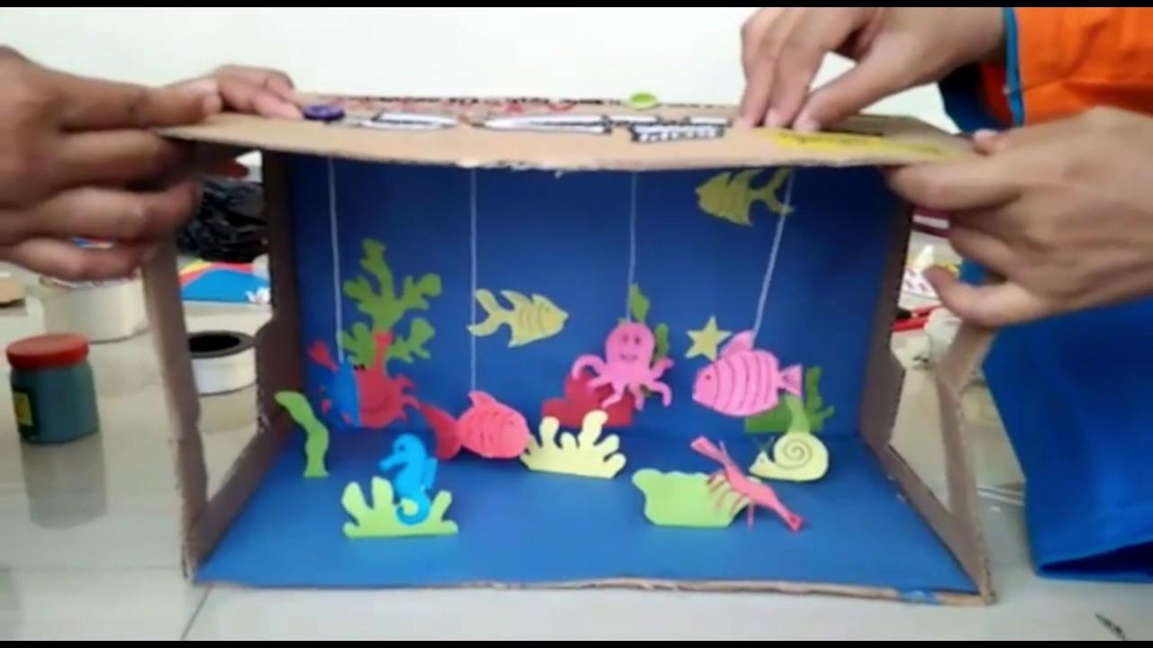 Ape Aquarium Dari Kardus Bekas Youtube