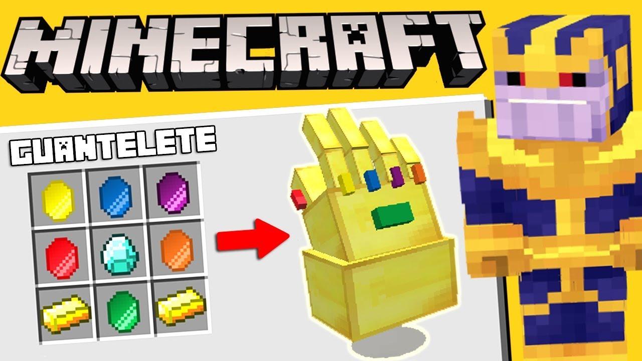 Guantelete De Thanos En Minecraft Como Se Consigue Mod