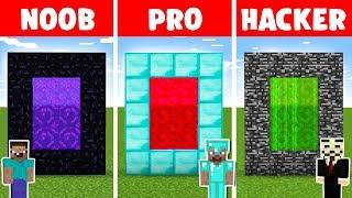 Minecraft NOOB vs PRO vs HACKER: SECRET PORTAL in minecraft - Animation