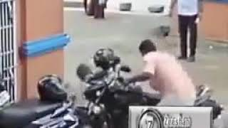 Wear Helmet while Driving Bike.. see how Helmet saves the Life of a Man 😲😲😲