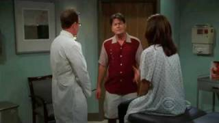 Charlie Harper and Chelsea at the plastic surgeon for a breast reduction - Two and a half men