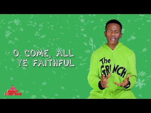 "Malcolm Allen sings ""O Come, All Ye Faithful"" 