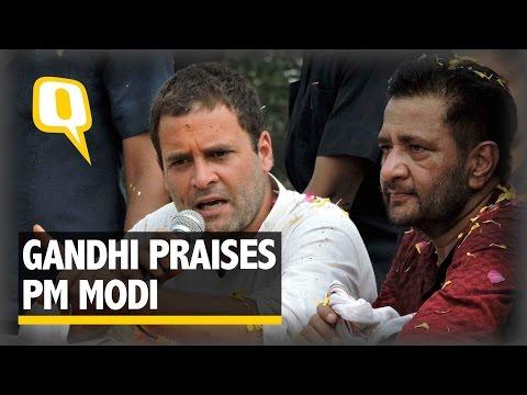 The Quint: Rahul Gandhi Praises PM Modi for His Decision
