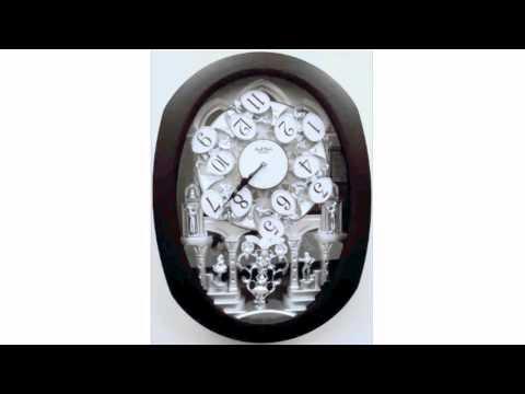 Rhythm Clocks Encore Espresso Magic Motion Musical Wall Clock - 30 Melodies