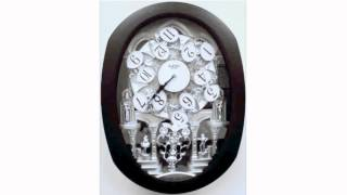 Rhythm Clocks Encore Espresso Magic Motion Musical Wall Clock - 30 Melodies