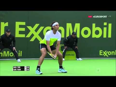 Rafael Nadal/Verdasco vs Teymuraz Gabashvili/Albert Ramos Vinolas FULL MATCH HD DOHA 2016