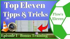 Top Eleven Tipps & Tricks #1 - Bonus Training mit nur 8 Ersatzspielern [Top Eleven, deutsch]