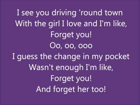 Cee Lo Green- Forget You Lyrics (Clean Version of F**k You)