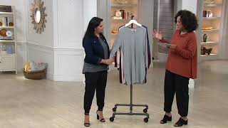 AnyBody Loungewear Cozy Knit Waffle V-Neck Dress on QVC