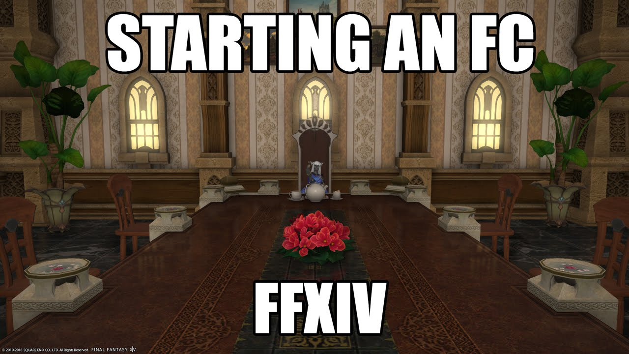 Starting a Free Company in FFXIV