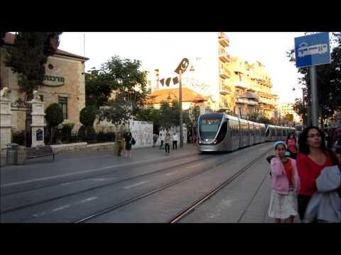 רכבת - Jerusalem tramway - הרכבת הקלה בירושלים -  Villamos - Israe