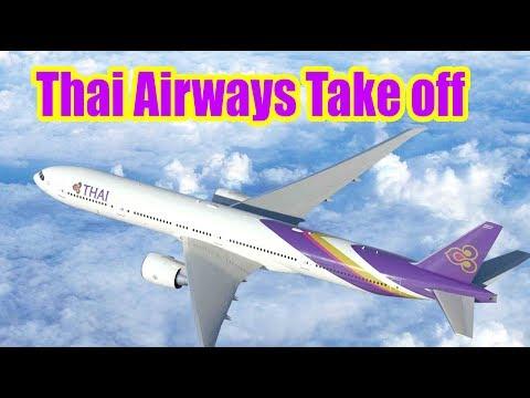 Thai Airways Take Off from Tribhuvan International Airport Kathmandu