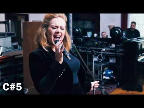 Adele Live Vocal Range (C3 - A5)