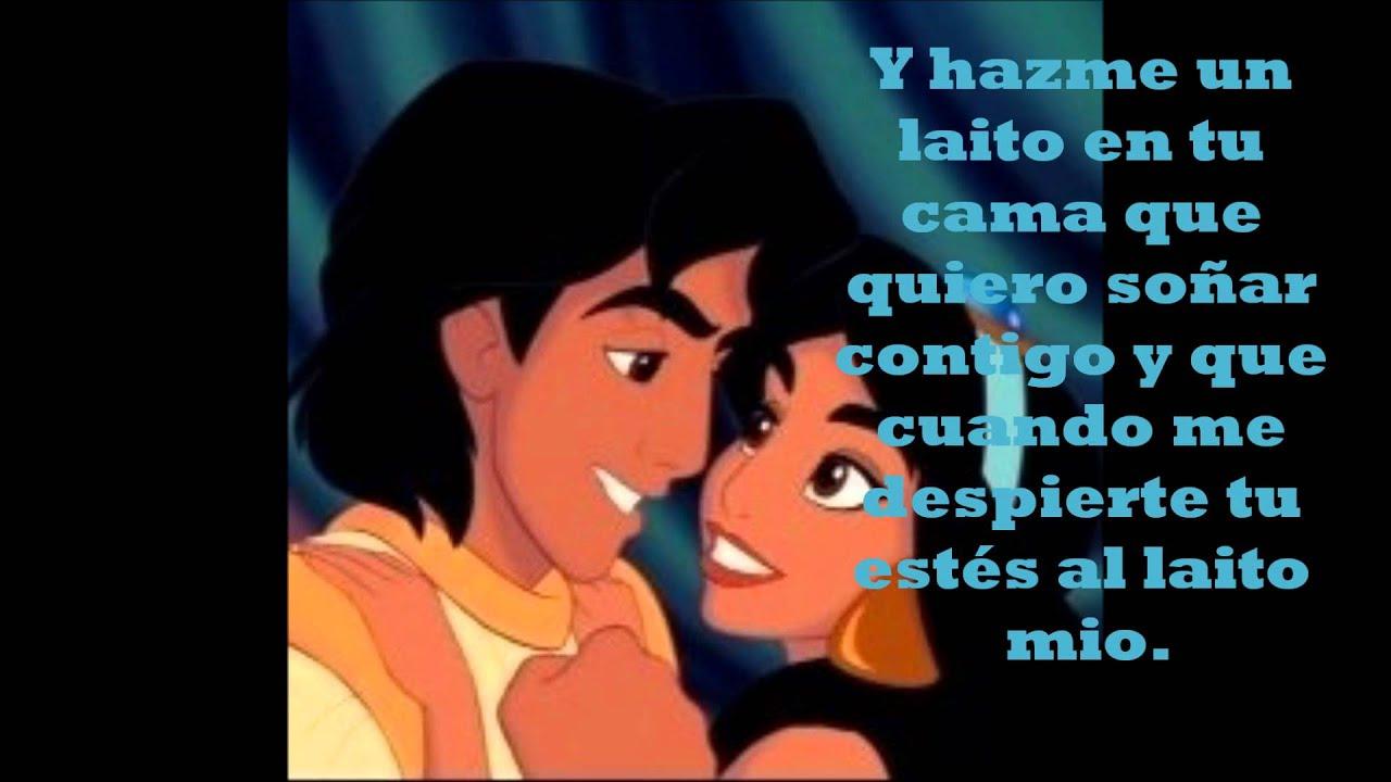 Aladin yasmine al laito de tu cama letras youtube - Yasmine de aladin ...