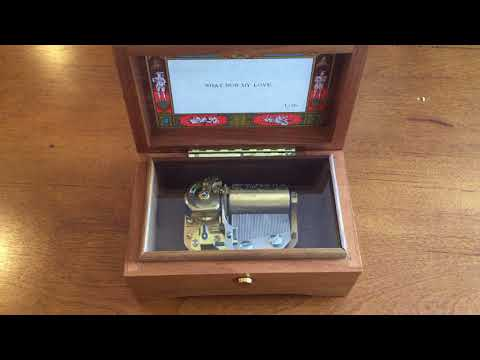 "Reuge 1 Song 36 Note Music Box, plays ""What Now My Love"""