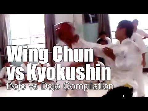 Wing Chun vs Kyokushin Karate - Dojo Invasion Compilation