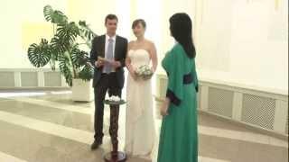 Регистрация брака - фрагмент свадебного фильма