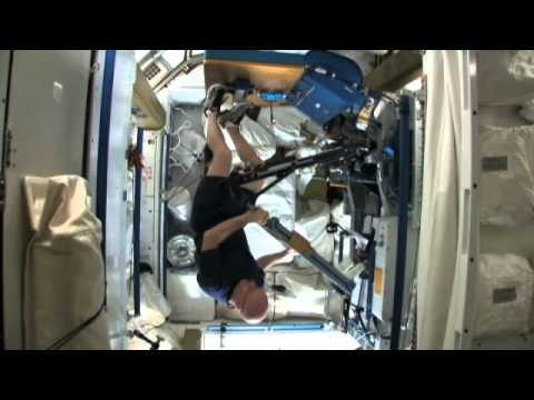 Working Out Aboard the Space Station - YouTube