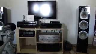 rx-495 Yamaha,NS-777 Yamaha e Pioneer DVL 700 tocando Fbio Jr