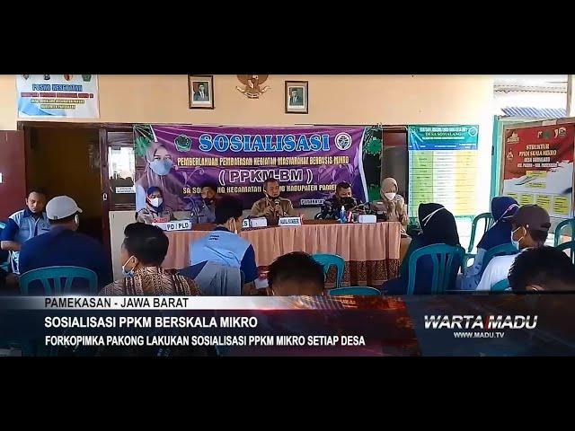 Pamekasan - Forkopimka Pakong Lakukan Sosialisasi PPKM Mikro Setiap Desa