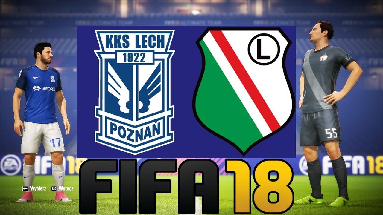 """LECH POZNAŃ vs LEGIA WARSZAWA – FIFA 18 """"POJEDYNKI ONLINE"""" HOGATY VS SYLO #01 [PL/PC]"""