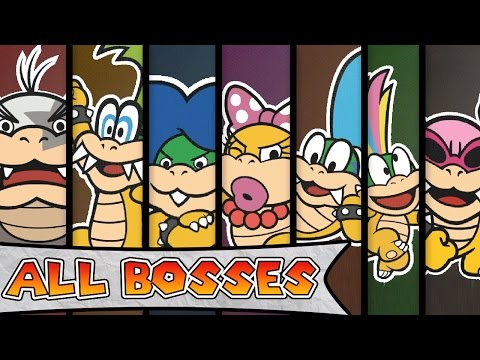 Paper Mario Color Splash - All Boss Battles