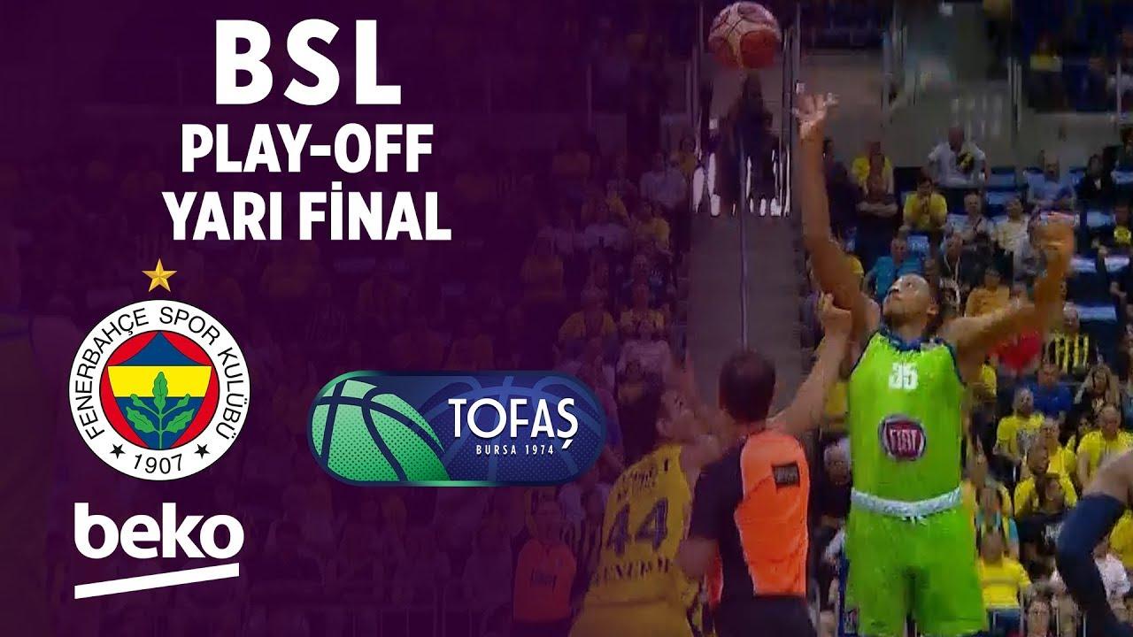 BSL Play-Off Yarı Final 1. Maç Özeti | Fenerbahçe Beko 102-68 Tofaş