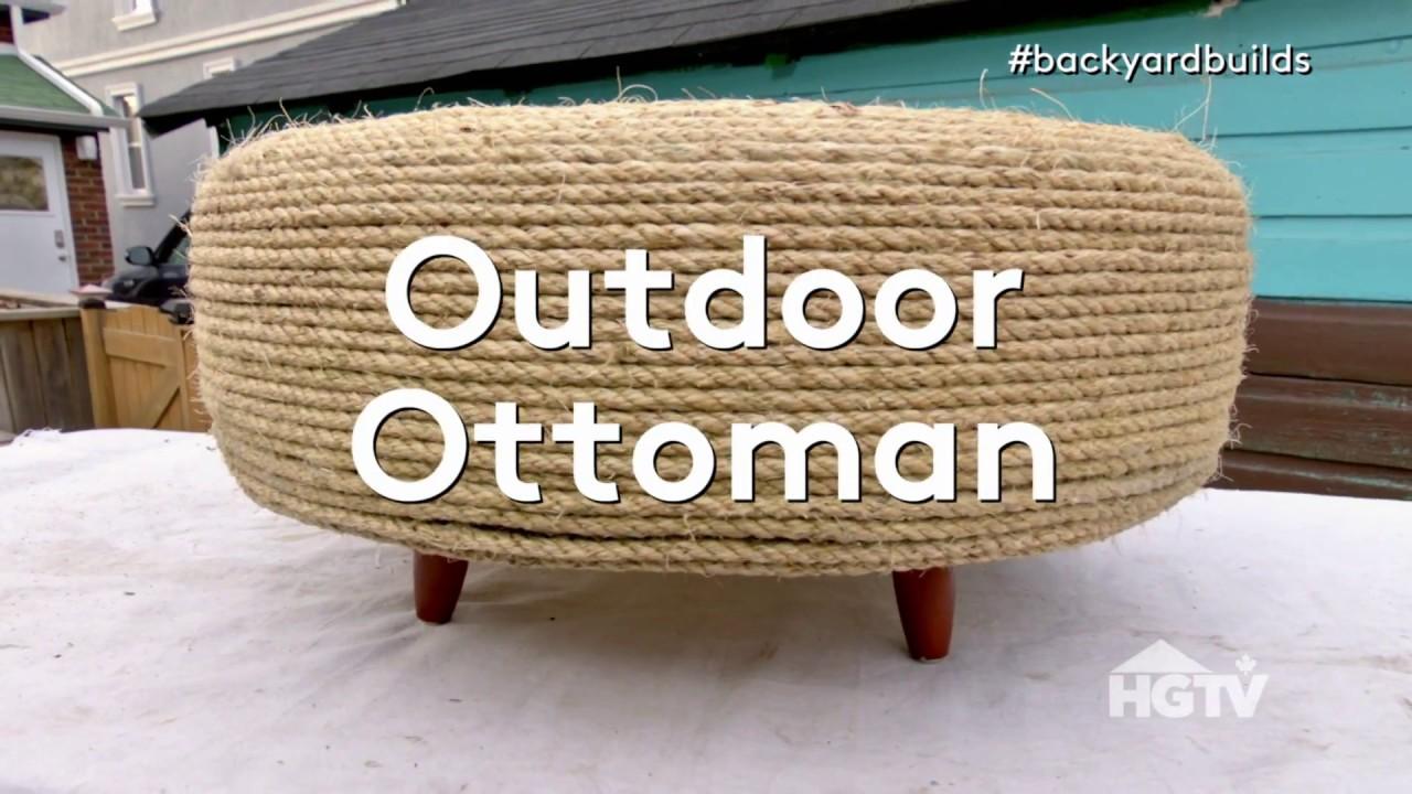 Diy outdoor ottoman