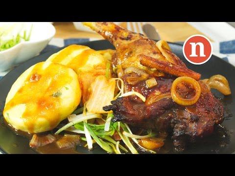 'Peking duck' with potato dumplings | Grilled duck with Potato Dumplings [Nyonya Cooking]