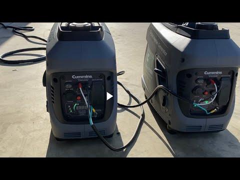 Cummins Onan p2500i generators with 50 amp parallel kit