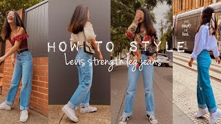 HOW TO STYLE Levis STRAIGHT LEG JEANS (2020 trends)