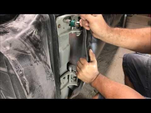 how to remove, hang, and adjust a car door DIY door gap adjusting restoration