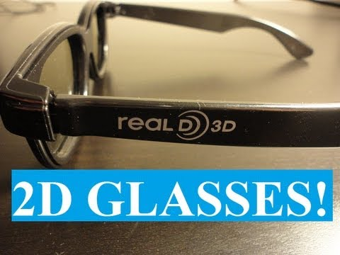 How to make 3D Glasses into 2D Glasses, What?!
