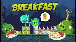 Pig and King Pig have BREAKFAST! - Bad Piggies Inventions