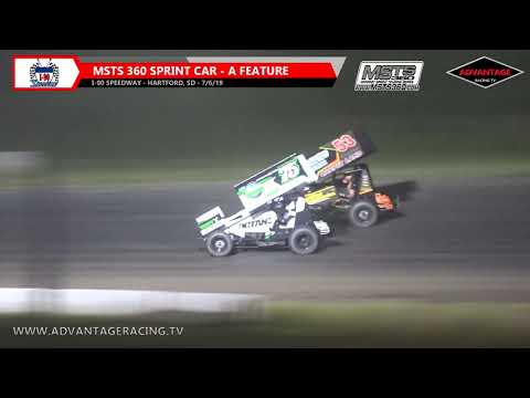 MSTS 360 Sprint Car Feature - I-90 Speedway - 7/6/19