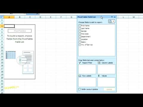 How to Create a Pivot Table in Excel 2007 For Dummies - YouTube