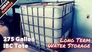 275 Gallon Emergency Water Storage Prepping 💧 with 5 Year Shelf Life! IBC Tote + Aquamira