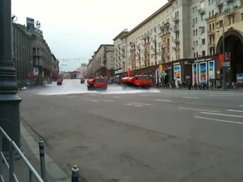 Street cleaning Moscow