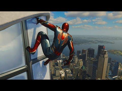 Spider-Man PS4 | IRON SPIDER SUIT - Web Swinging & Combat Free Roam (Gameplay)