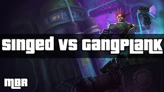 Mad Scientist Singed Vs GangPlank| League Of Legends | HD