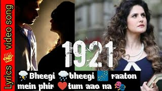 Bheegi Bheegi Raaton Mein | 1921 song with lyrics | unplugged cover song |