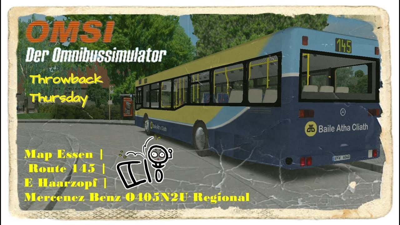 Omsi 1 Throwback Series Map Essen Route 145 E Haarzopf