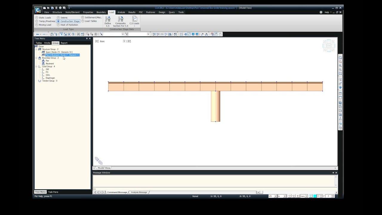 PC Composite and PSC Box Girder Bridge Design as per