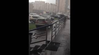 сильный дождь В СПБ.26.05.2016..