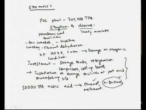 Mod-08 Lec-02 Selection of the Process and Project Site (Part I)