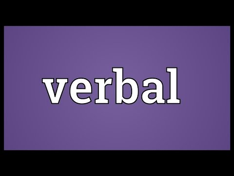 Verbal Meaning
