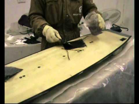 Kitesurf shaper costruire una tavola da kite parte 3 youtube - Costruire tavola da snowboard ...